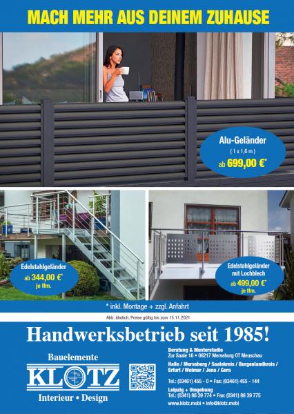 Geländer, Edelstahlgeländer, mit Lochblech, Design