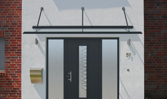 Vordach, Eingangsüberdachung, Haustürüberdachung, Fassadenschutz
