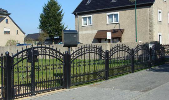 Zaun, Schmiedeeisen